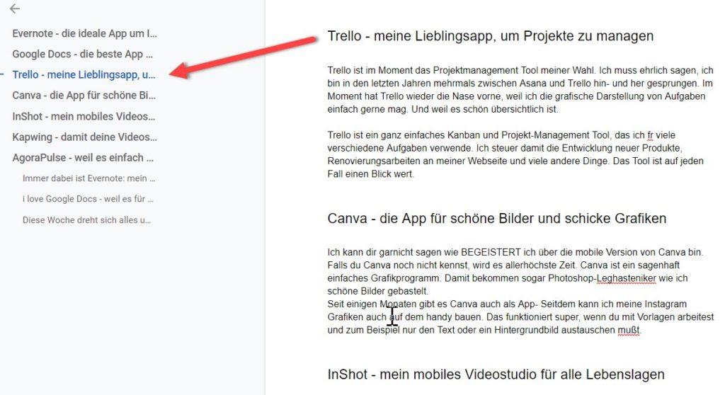 Die besten Apps für Blogger_Google doc
