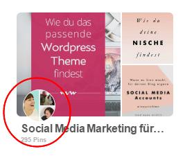 Pinterest Gruppenboards erkennen