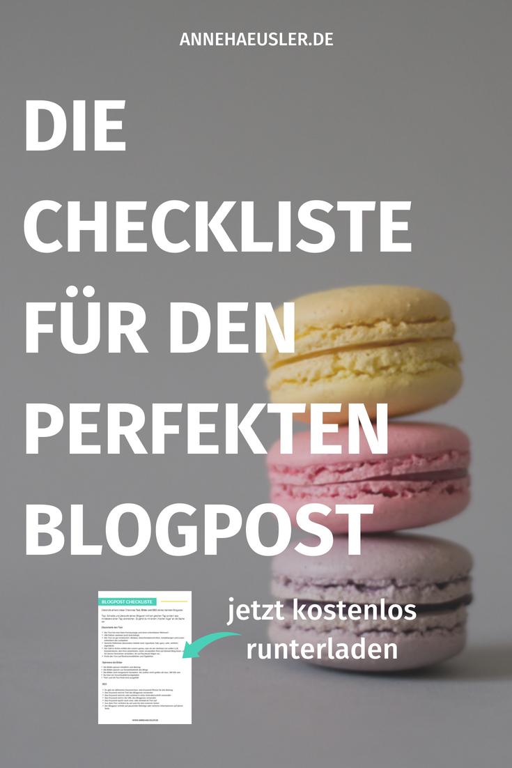Die ultimative Checkliste für den perfekten Blogpost: jetzt kostenlos runterladen
