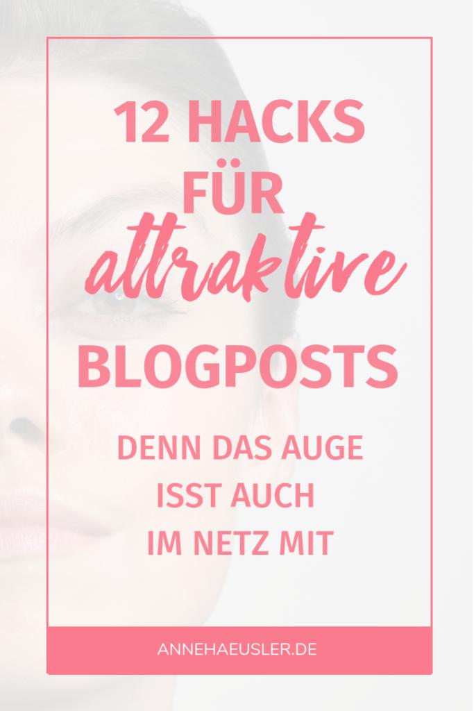 12 Hacks für attraktivere Blogposts - und mehr Traffic. Denn das Auge isst auch im Netz mit