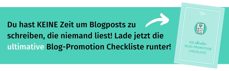 Blog Promotion Checkliste