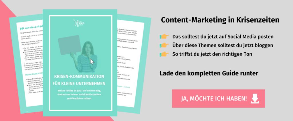 Content Marketing in Krisenzeiten