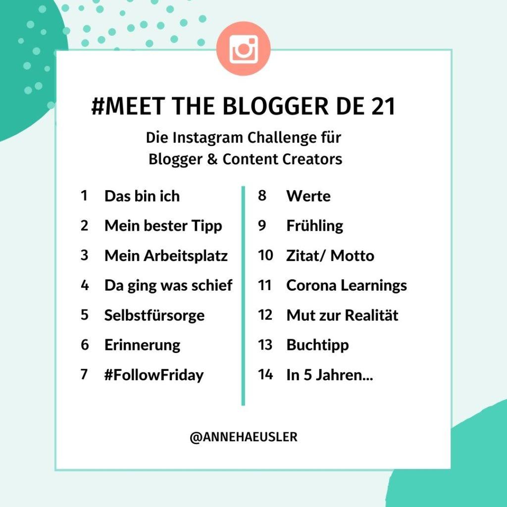 Instagram Challenge #meetthebloggerde21