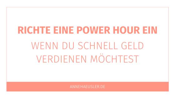 Richte eine Power Hour für dein Business ein